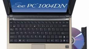 Asus lanza su netbook con unidad óptica: Asus Eee 1004DN